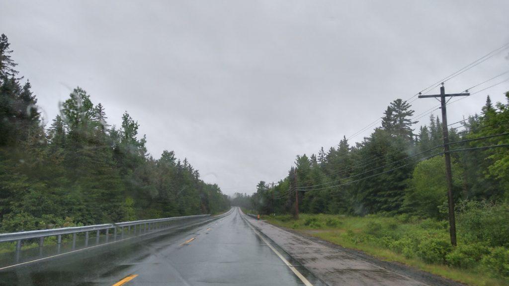 regnerische Straße
